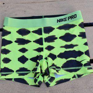 NIKE Pro Shorts - Compression - Small - yellow